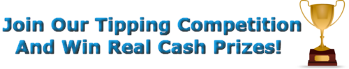 Real Money Prizes Tipping Competition!