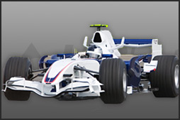 White Formula One Car