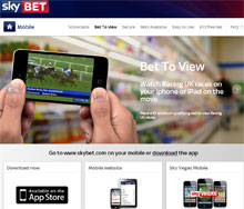 Sky Bet Mobile Betting - Get Your £10 Free Bet!