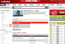 Cycling Betting with Ladbrokes
