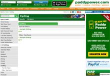 Cycling Betting with PaddyPower
